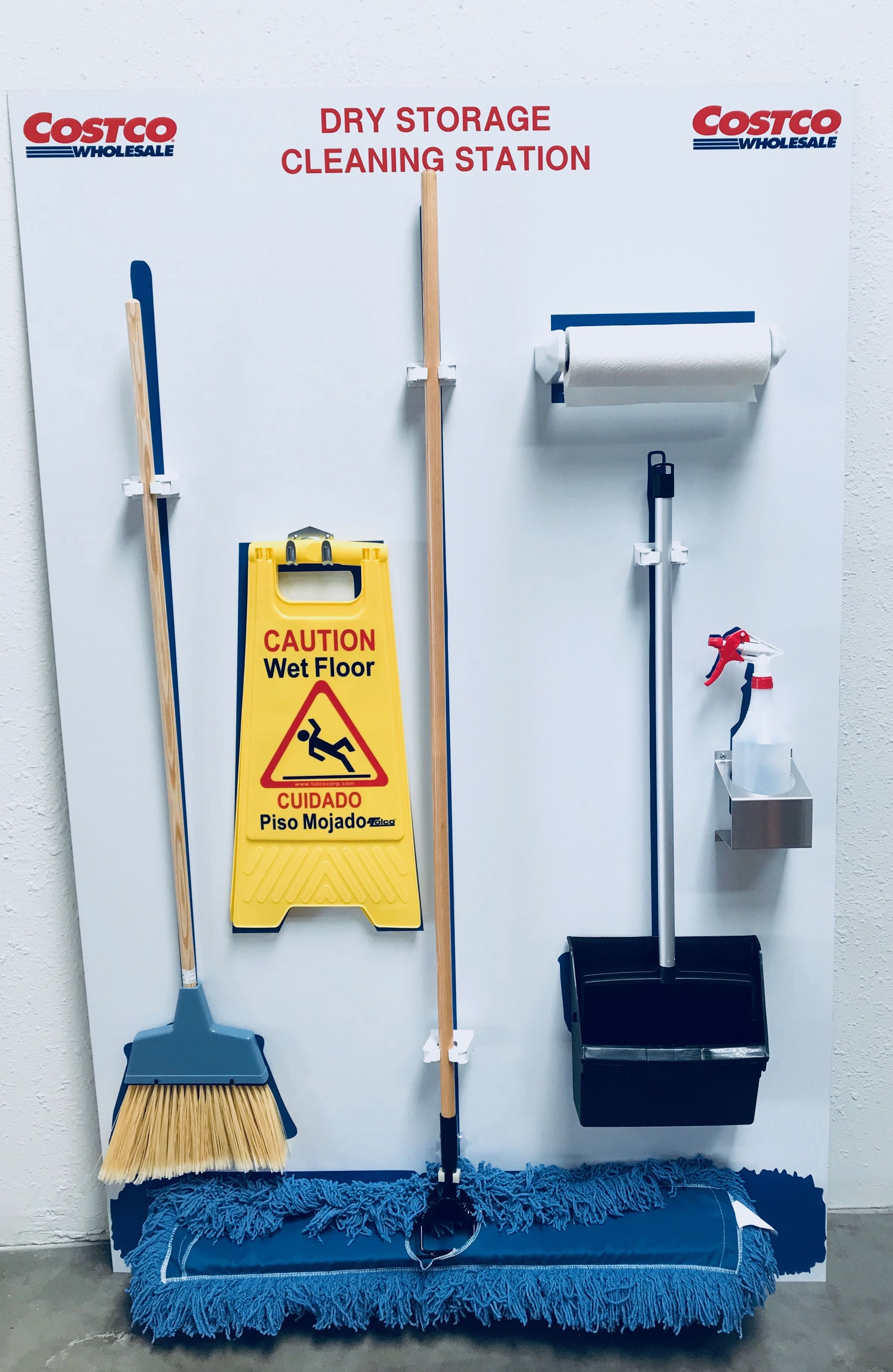 Fully Equipped Cleaning Station With Custom Tool Clips And