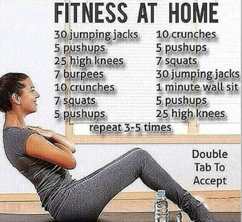 try this super easy to do home workout and start seeing
