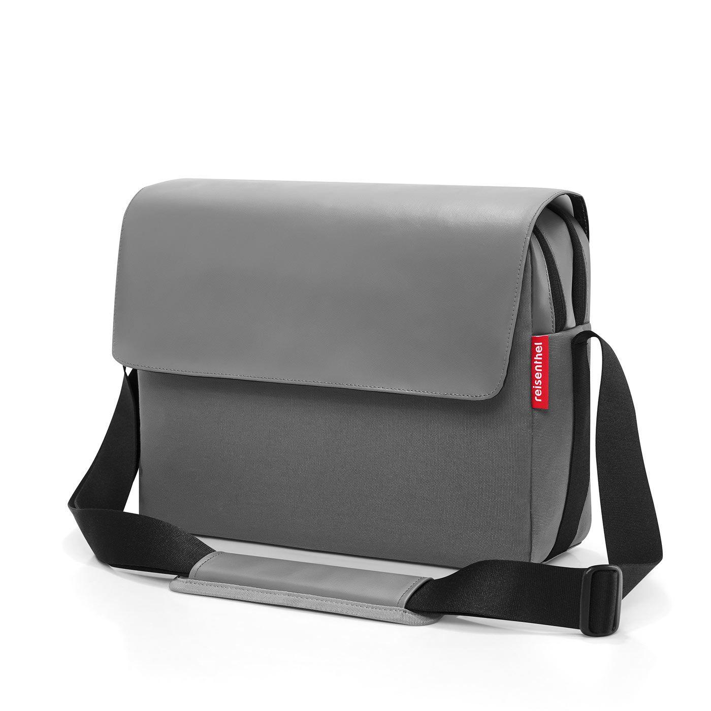 efceaa75a6d45 reisenthel courierbag 2 cancas grey Umhängetasche Bürotasche
