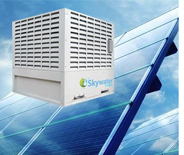 Skywater Water Making Machines Using Only Electricity The The Skywater 150 Cube Uses Patented Air To Water Technology To P Making Machine Drinking Water Air