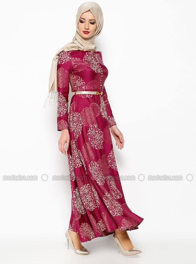 Jacquard Evening Dress - Purple - Dresses - Modanisa  Mode für