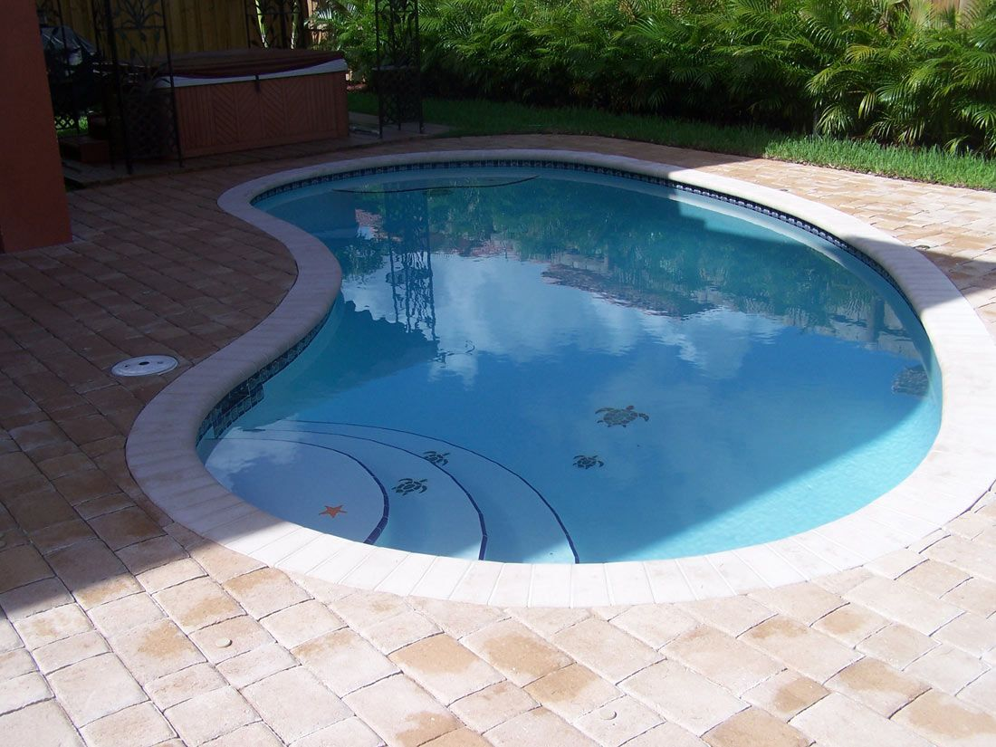 Kidney Shaped Above Ground Pool To Complete The Untreated Area