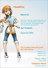 clean cleaning flyers leaflets
