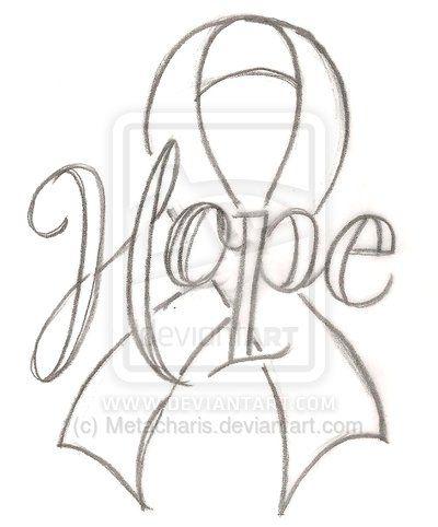 Hope Cancer Ribbon Tattoo by Metacharis | Survive | Pinterest | Tatuajes