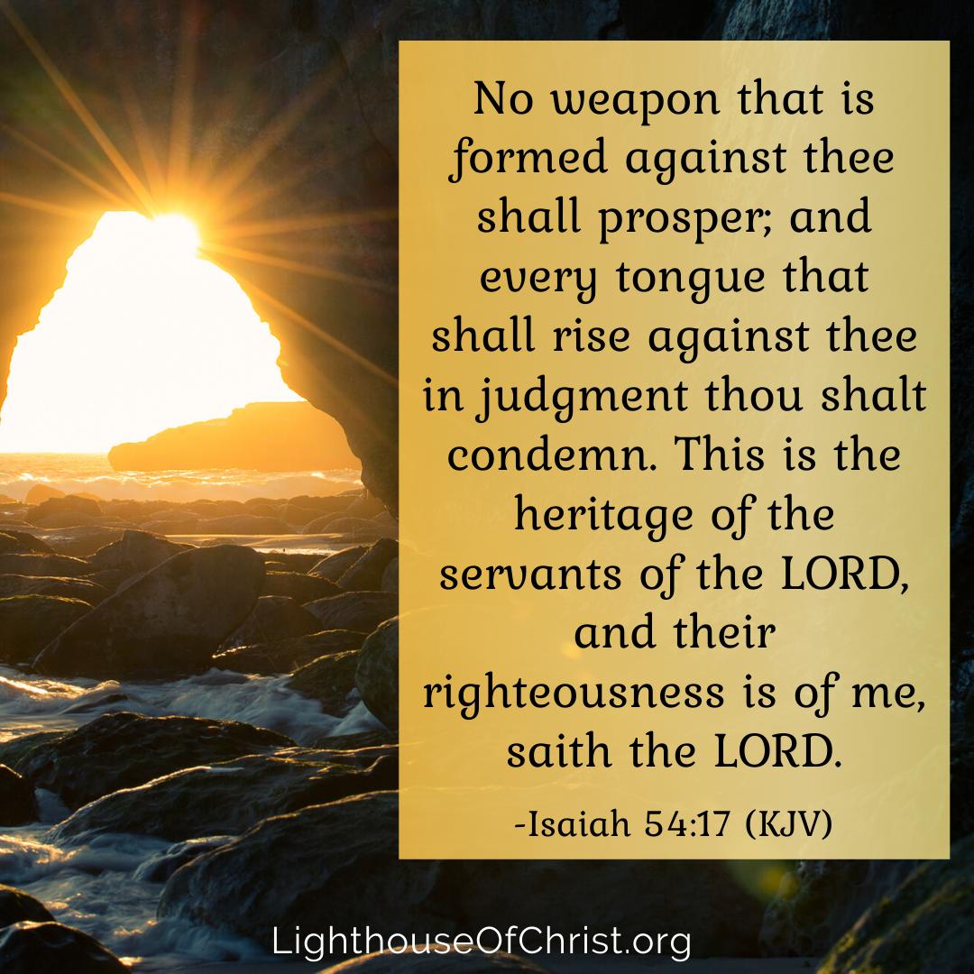 Isaiah 54:17 | Isaiah 54, Thou shall prosper, Isaiah