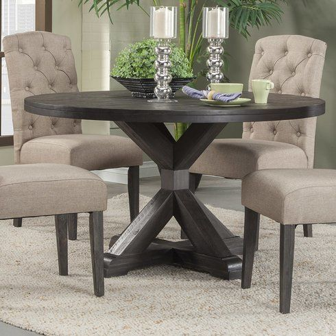 Colborne Solid Wood Dining Table Round Dining Room Table Round