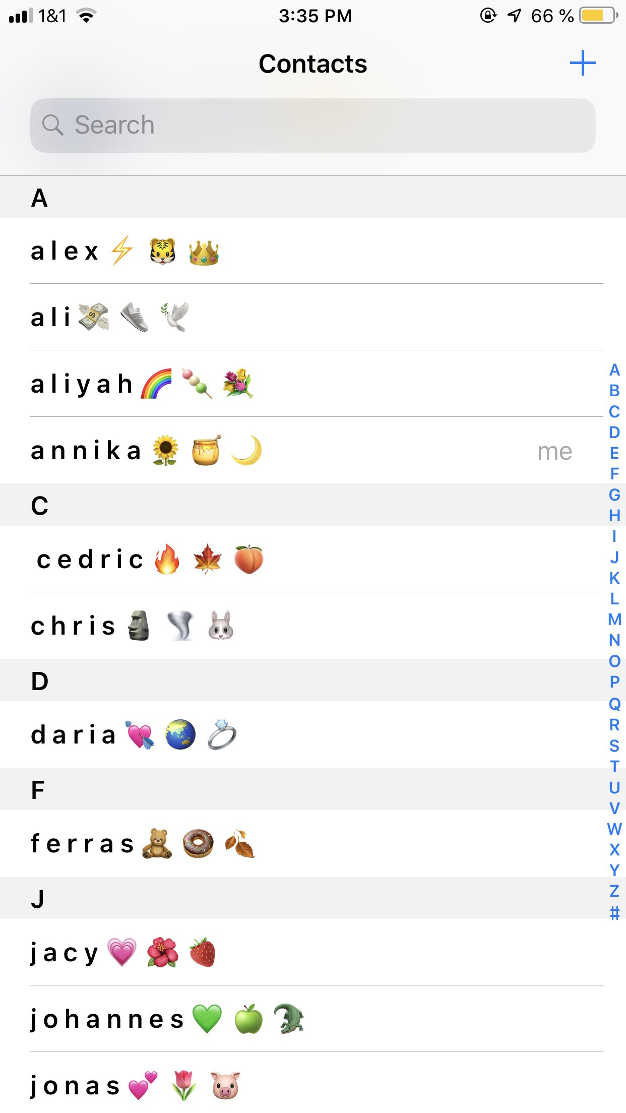 Aesthetic Contacts Emoji Combinations Cute Emoji Combinations Iphone Organization