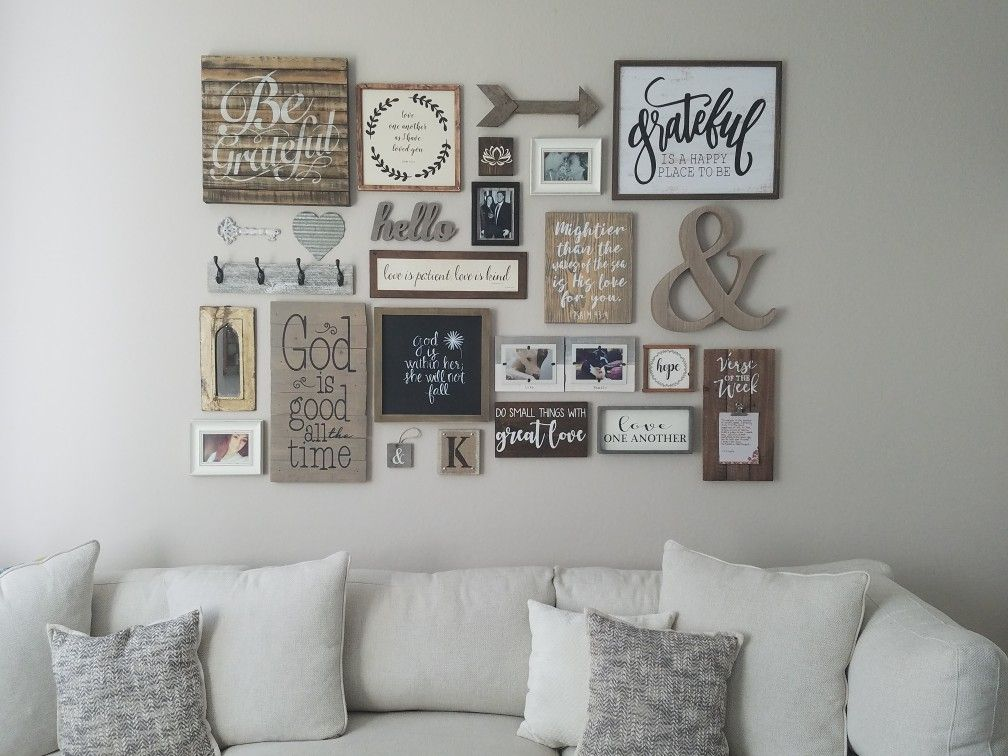 Farmhouse Gallery Wall Gallery Wall Living Room Farmhouse Gallery Wall Rustic Gallery Wall