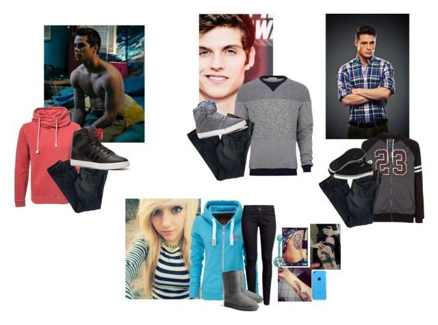 """""""-Allie, Dylan, Gabe, Colton"""" by heavydirtysoul-anons ❤ liked on Polyvore featuring moda, Jack & Jones, Oliver Spencer, American Eagle Outfitters, Puma, adidas, Accessorize, Superdry, H&M y UGG Australia"""