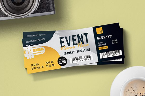 Creative Event Ticket Design Ticket Pinterest – How to Design a Ticket for an Event