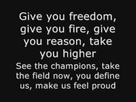 K Naan Wavin Flag Fifa World Cup South Africa 2010 Official Theme Song Lyrics Songs Song Lyrics Song Words