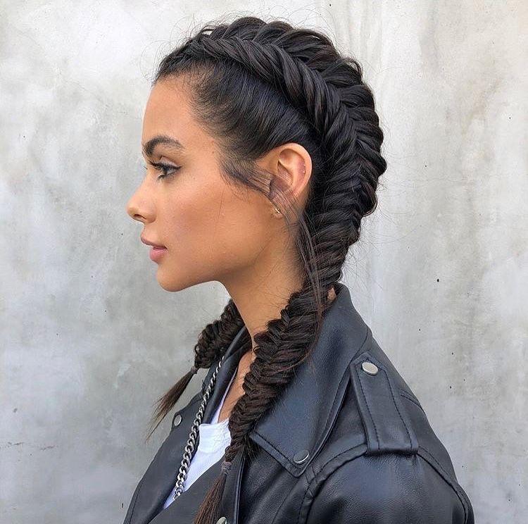Fishtail French Braid Pigtails Hair Styles Hair Hacks Edgy Hair