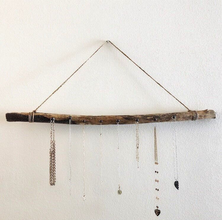 Jewelry Hanger  wood necklace holder  drift wood wall hanger  necklace organizer Driftwood Jewelry Hanger  wood necklace holder  drift wood wall hanger  necklace organize...