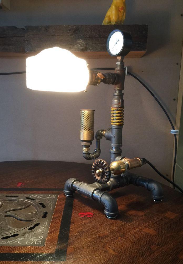Unique Industrial Steampunk Desk Lamp Antique Deco Shade ...