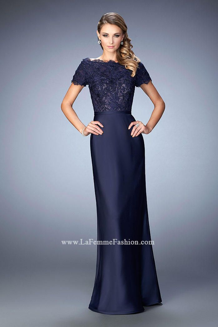 f01f80efbb Check out the deal on La Femme 21962 Off the Shoulder Evening Dress at French  Novelty