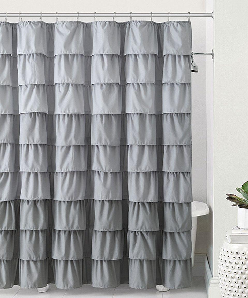 Gray Sally Ruffle Shower Curtain Cortinas Cortinas De Chuveiro Cortinas Coloridas