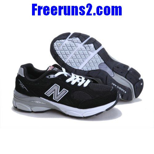 New Balance M990BK president running Noir Gris blanc Chaussures Hommes