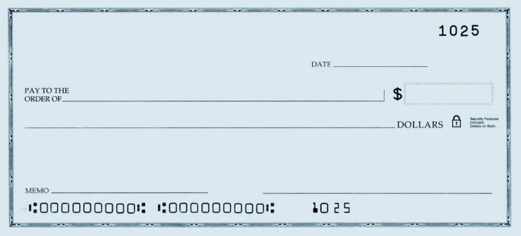 image about Blank Checks Printable referred to as template of a blank verify PRINTABLE Person BLANK Check out