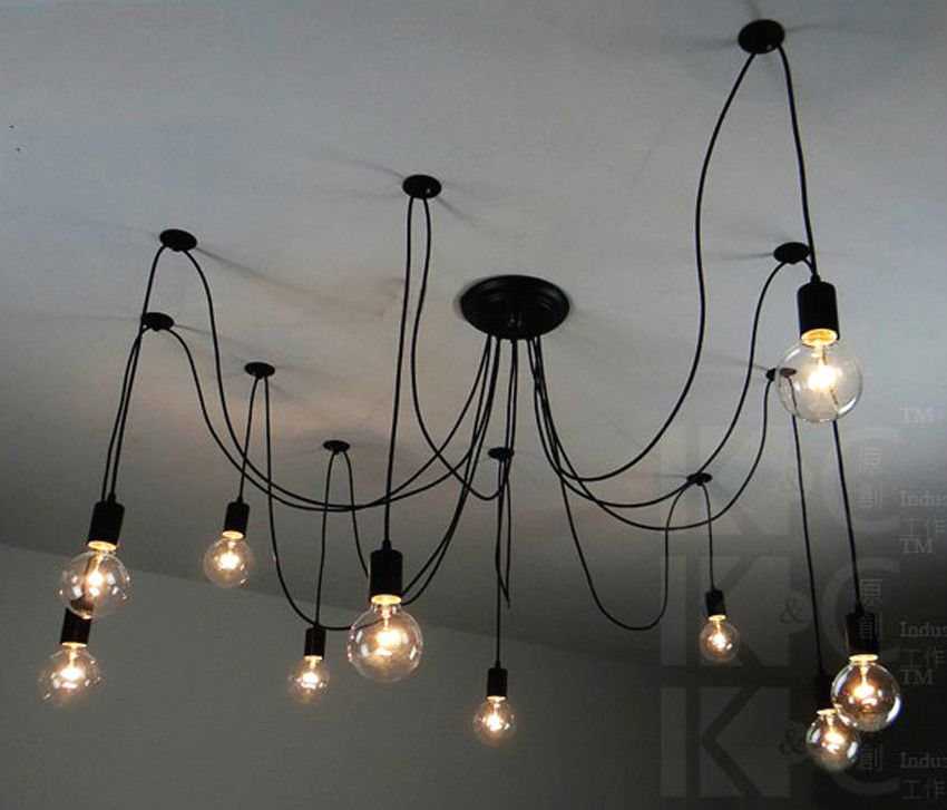 Vintage edison pendant ceiling lights chandelier modern chic vintage retro pendant home lighting fans ebay aloadofball Images