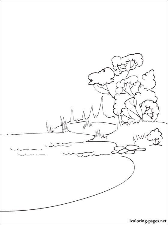 Lake Coloring Page Coloring Pages Coloring Pages Summer