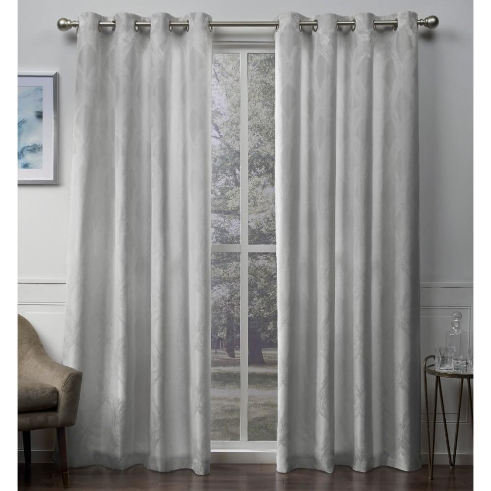 Dorado 54 In W X 108 In L Jacquard Grommet Top Curtain Panel In