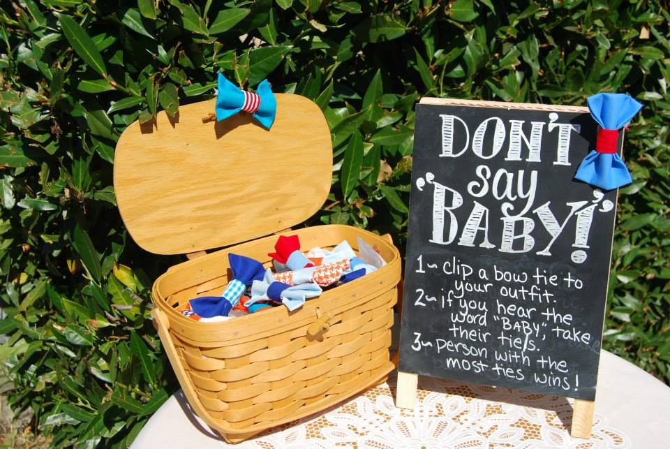 Bow Tie Party Dont Say Baby Baby Shower Game Rsvpbycynthia