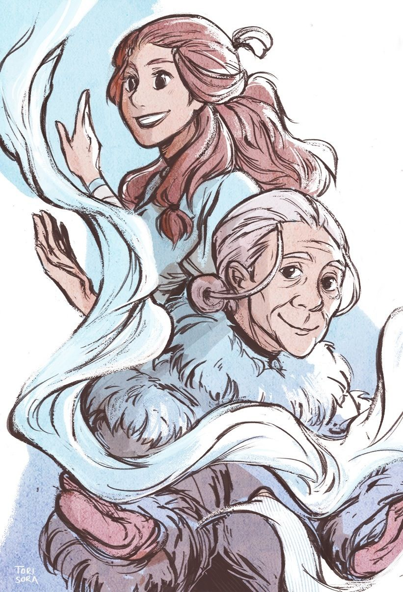 The Legend of Korra/ avatar the last Airbender: Katara young and old