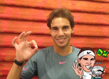 Rafa Nadal · 10 September 2013 Gracias por el apoyo en LINE , TW y FB! Quiero regalaros mis Stickers en LINE>Más>Tienda de stickers>Gratis Thanks for your support LINE , TW y FB! I want to give you Stickers at LINE>Más>Tienda de stickers>Gratis