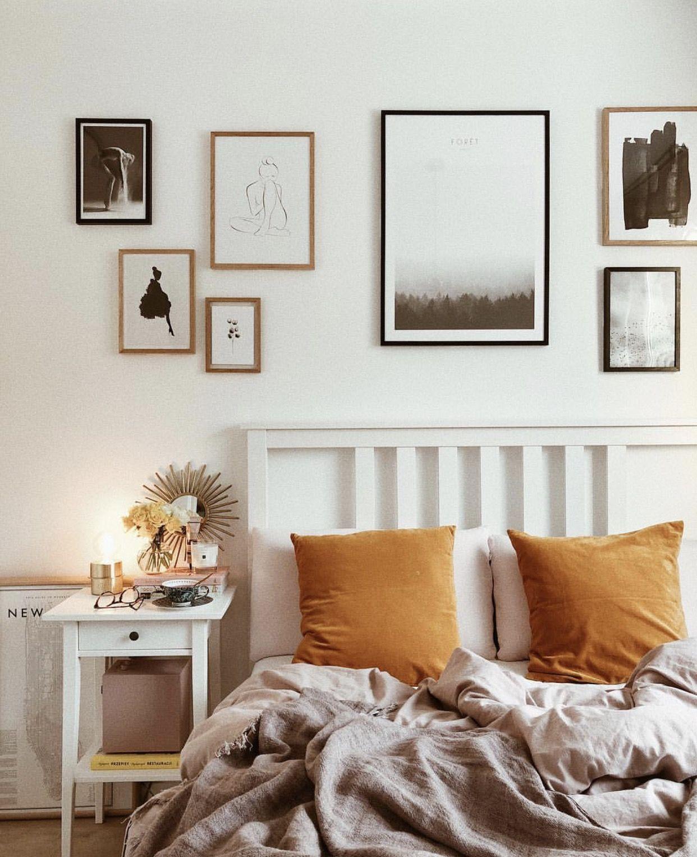 Bedroom With IKEA Bed Hemnes