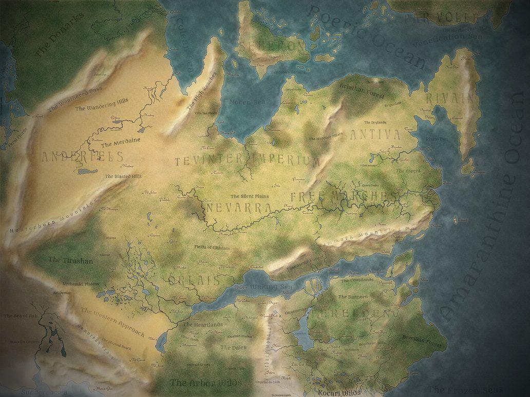 Thedas World Map | Dragon age, Dragon age games, Age