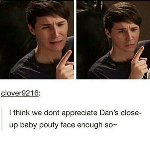 It's funny cuz it's his genuine reaction to phil biting his finger