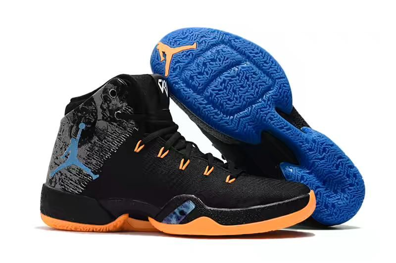 "5667a672fd151c Russell Westbrook Air Jordan 30.5 ""MVP"" Black Total Orange-Blue ..."