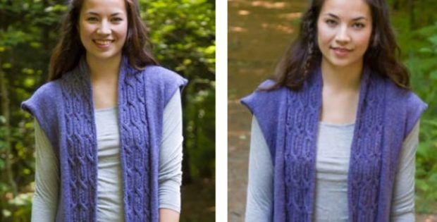 Stylish soft linen knitted vest | The Knitting Space