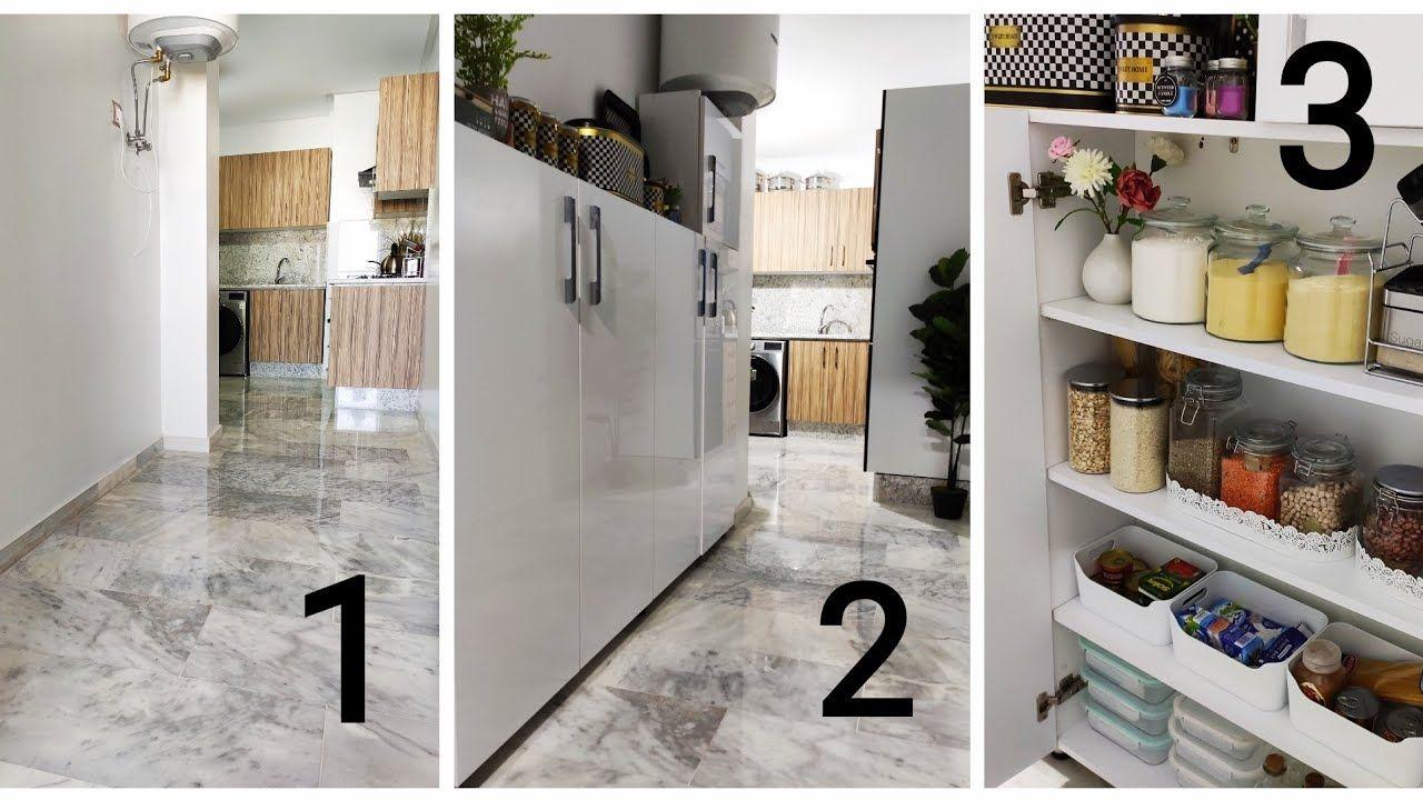 استغلال المساحة الضيقة في المطبخ ببلاكار خشبي صغير للتنظيم Decor Furniture Home Decor