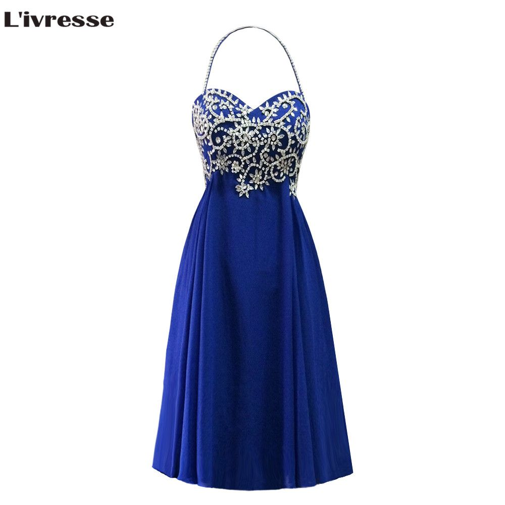 >> Click to Buy << L'ivresse 2017 Vestidos De Fiesta Royal Blue Beaded Prom Dress Luxury A-line Spaghetti Strap Cheap Prom Party Gown LP056 #Affiliate