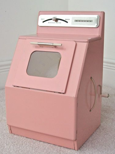 Vintage Pink Nassau Doll Play Washer Dryer Tin Toy Ebay Tin Toys Doll Play Vintage Pink