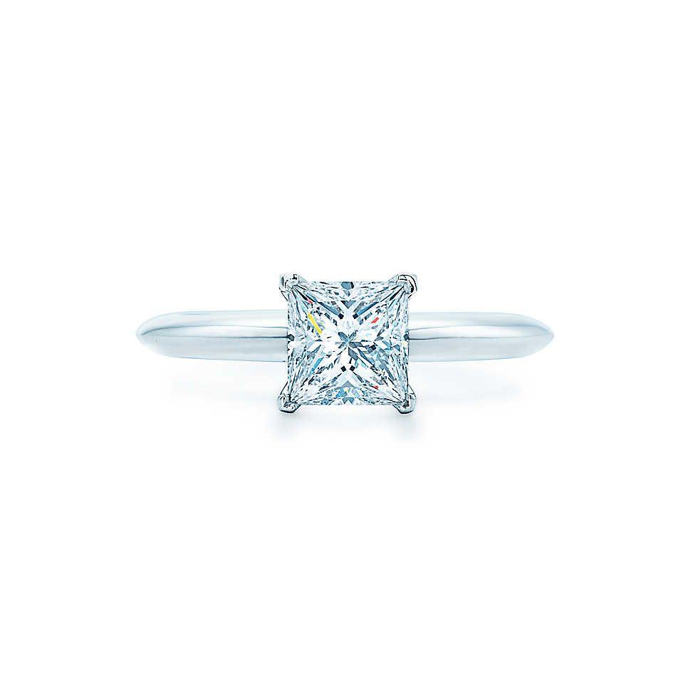 bague diamant solitaire taille princesse
