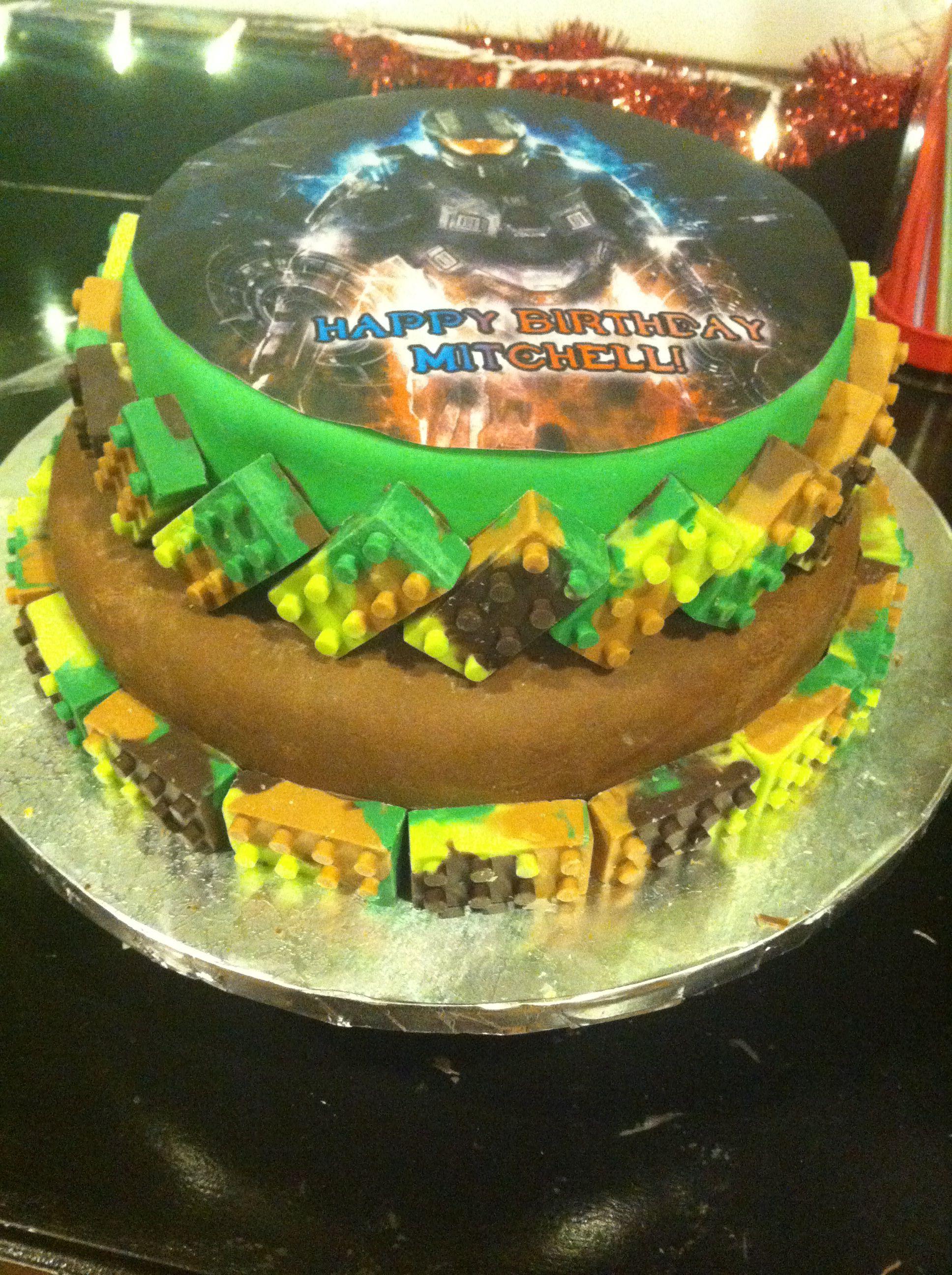 Marvelous Lego Camo Halo Birthday Cake Cakes By Eron Cake How To Make Cake Birthday Cards Printable Nowaargucafe Filternl