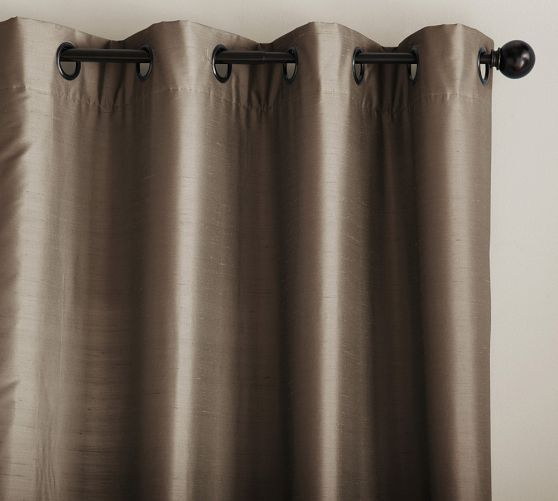 Bought These For My Dining Room Dupioni Silk Grommet Drape