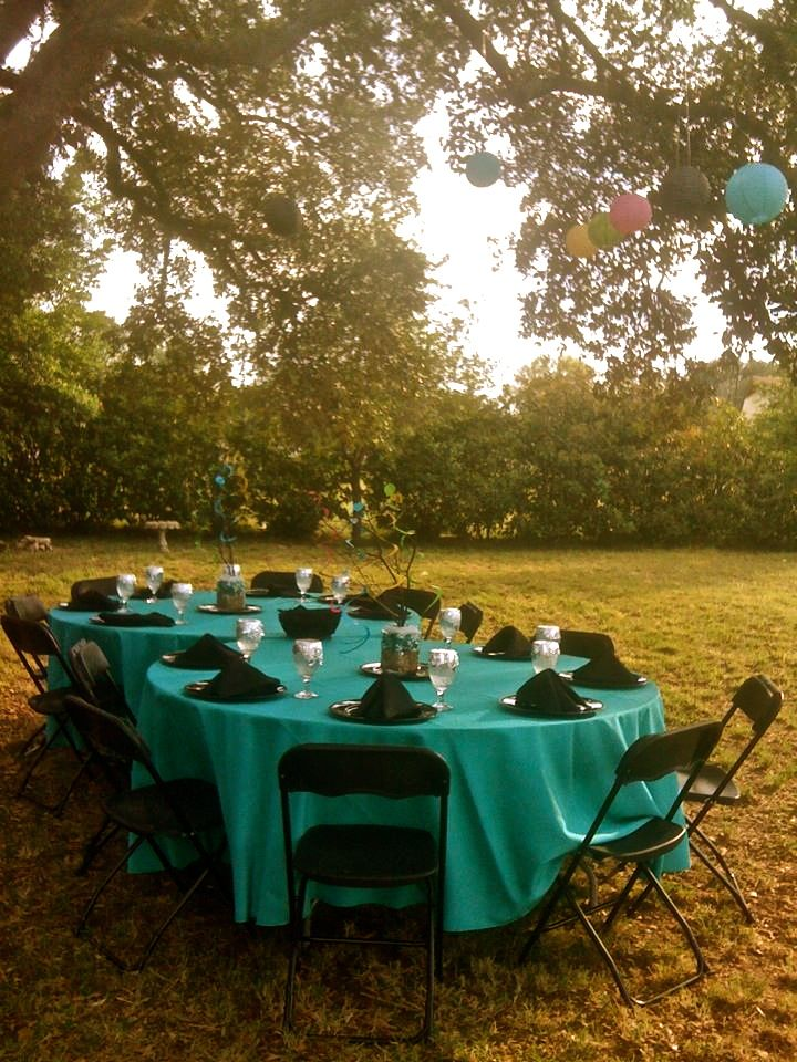 Party set up in my backyard for prom dinner. | Prom ...