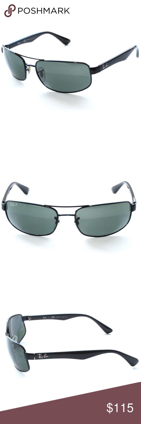 825fcc1e0f9 RAY-BAN Polarized Sunglasses RB 3445 002 58 61-17 RAY-BAN Polarized ...