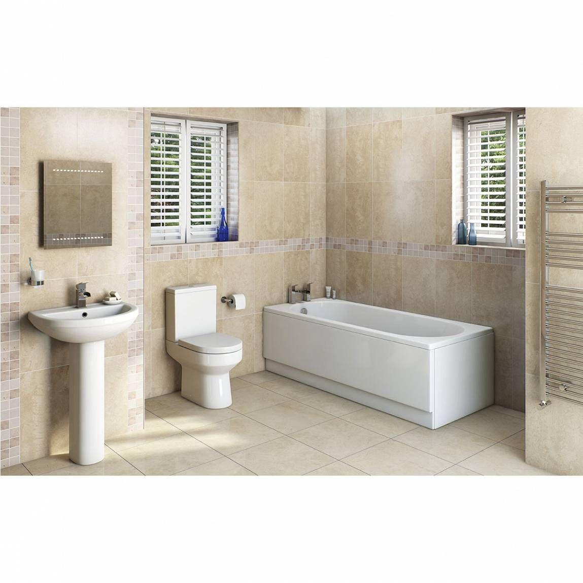 Oakley Bathroom Set With Richmond 1700 X 700 Bath Suite Victoria Plumb Straight Baths Bathroom Suite Bathroom Suites