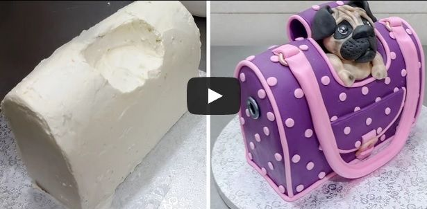 Handbag Style Pet Carrier Cake