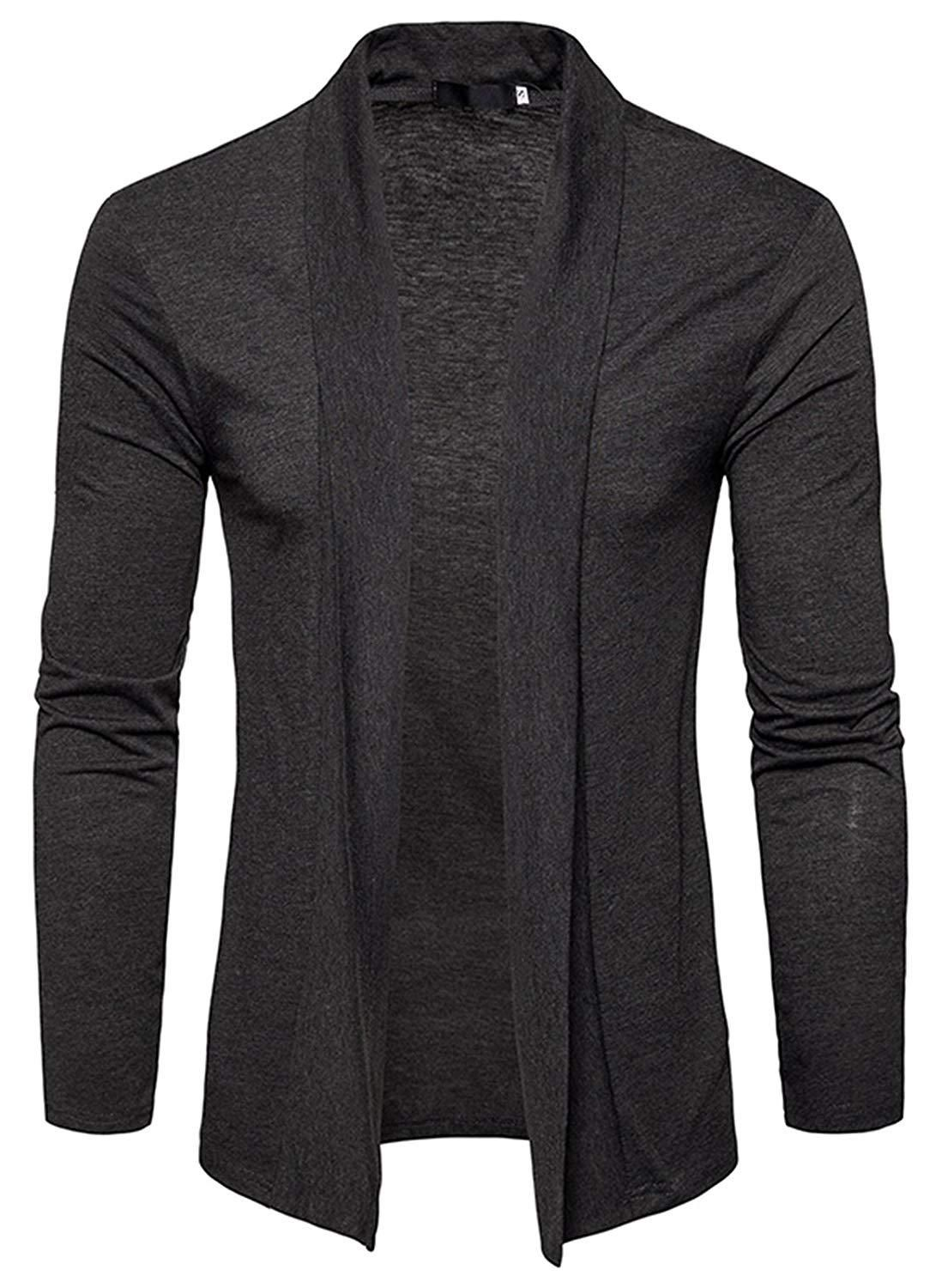 Whatlees Mens Casual Open Front Sweater Cardigan