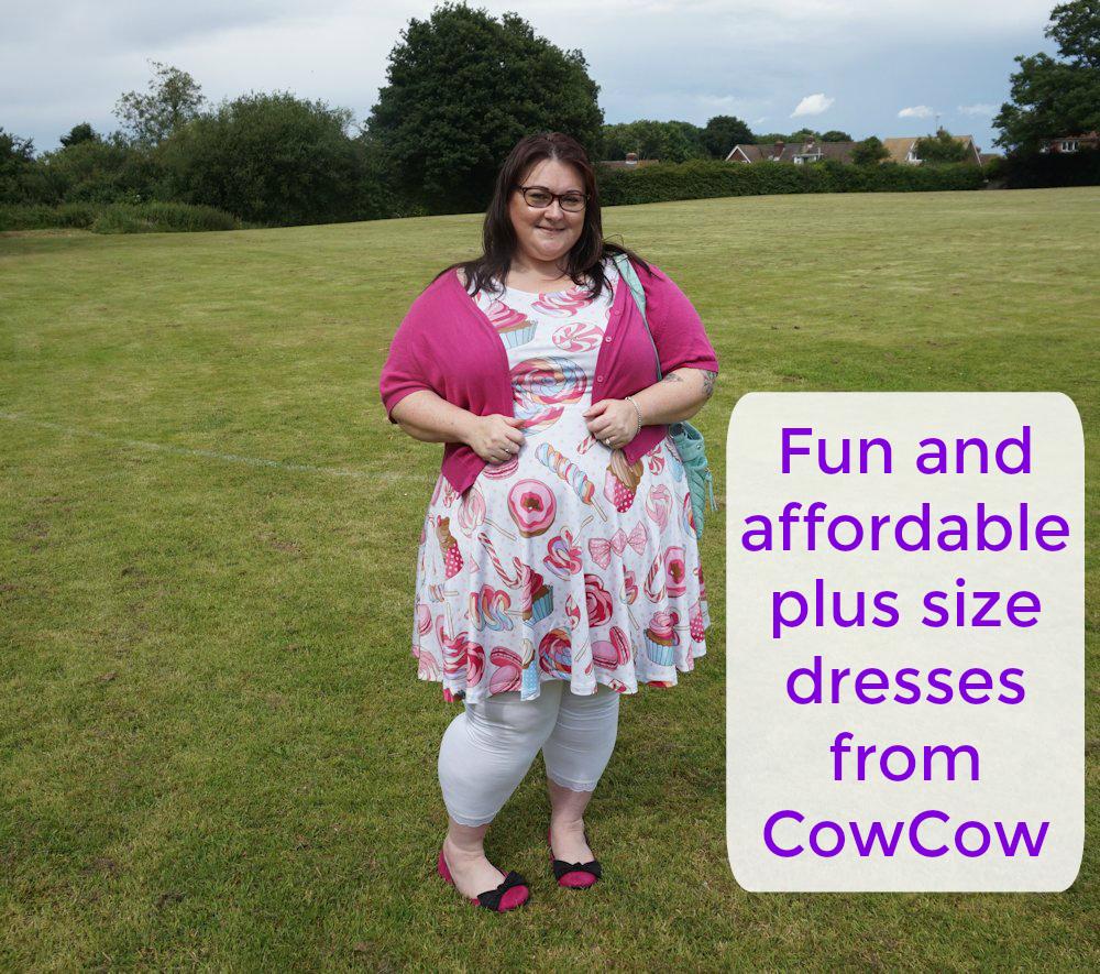 2e1aacb7efdfc COWCOW plus size dresses up to 5x plus size unicorn dress plus size cupcake…