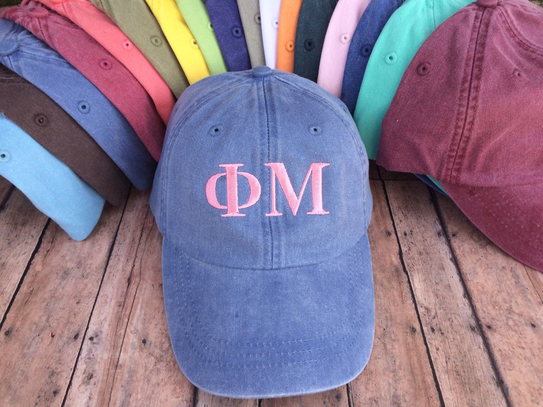 Sorority Hat, greek letter hat, sorority sister hat, greek hat, greek letter, sorority, monogram hat, baseball cap, baseball hat, gift by SewWhatFun on Etsy