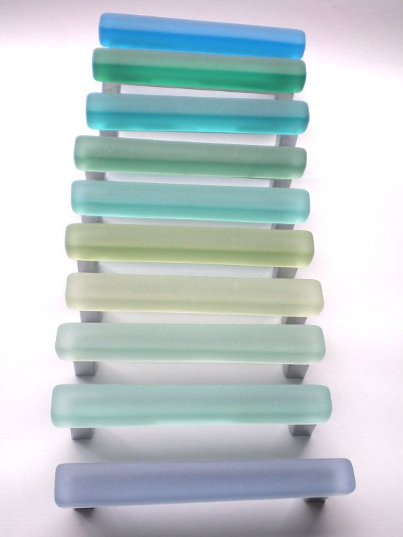 10 beach glass pulls | Cabinet hardware, Hardware and Door pulls