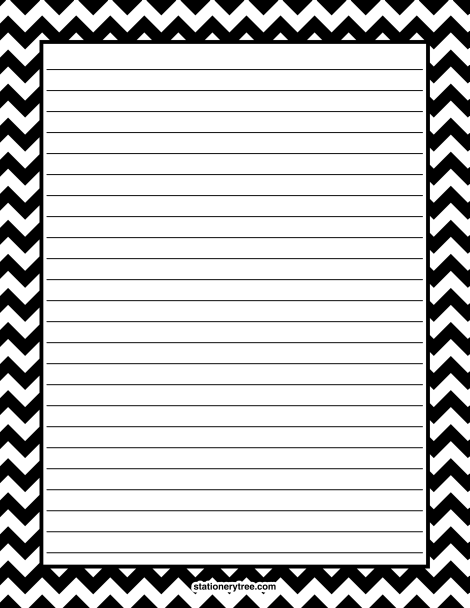 photograph regarding Free Printable Stationery Black and White titled Pin via Muse Printables upon Stationery at