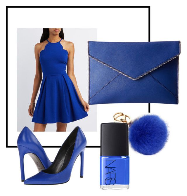 """""""Dark blue shade """" by chchic-iacovou on Polyvore featuring NARS Cosmetics, Charlotte Russe, Rebecca Minkoff and Stuart Weitzman"""
