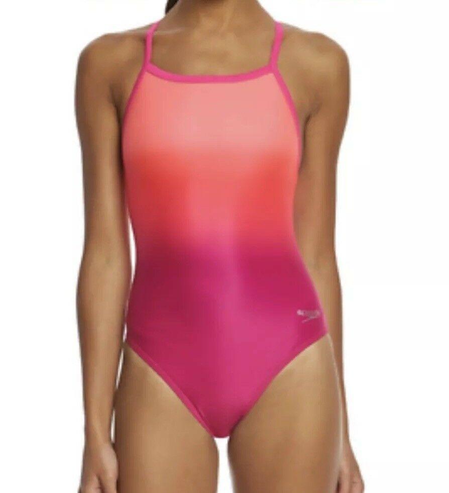 Arreglo sostén Enmarañarse  Speedo Womens Pink Powerflex Eco Ombre Flyback One Piece Swimsuit Size  10/36 K41 | eBay | One piece, Women swimsuits, One piece swimsuit